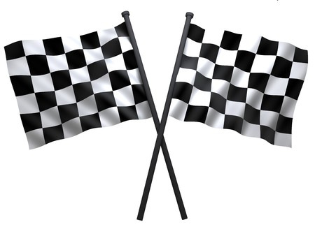 checkered: flag of start or finesha, done in 3d