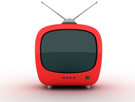 telly: symbol TV on a white background (3d)     Stock Photo