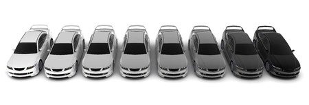 Eight sporting car on a white background    photo