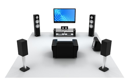 Home-cinema modern (done in 3d)      Stock Photo - 7695756