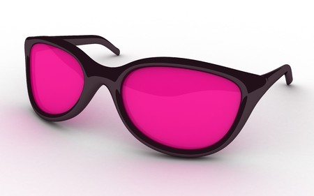 wayfarer: glasses pink on white background (done in 3d)  Stock Photo