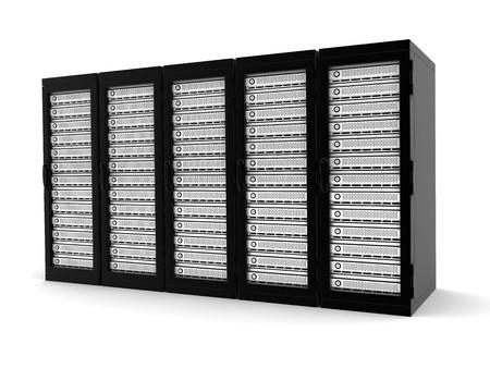highend: Server di fascia alta riga (fatto in 3d, isolato)