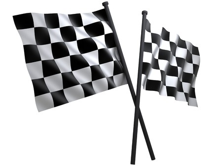 nascar: flag of start or finesha, done in 3d