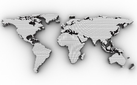 Abstract map, white colour (done in 3d, isolated) Stock Photo - 8032255