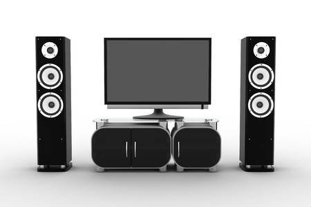 Home-cinema modern (done in 3d, isolated) Stock Photo - 8142053
