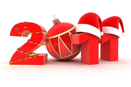 Abstract new year's Eve (done in 3d, isolated) Stock Photo - 8297703
