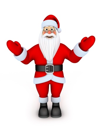 Happy santa claus (done in 3d, isolated)  Stock Photo - 8431506