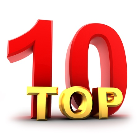Top ten the best (isolated, done in 3d) Stock Photo - 9135678