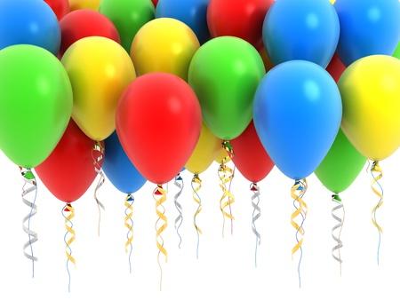 Ballon fly, various colour  Stock Photo