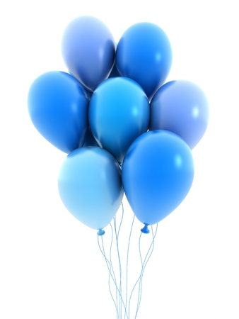 Ballon fly, blue colour (done in 3d) Stock Photo - 9572318