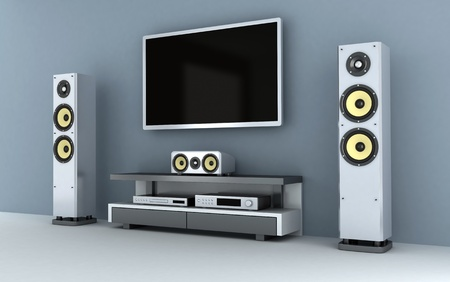 Home-cinema modern (done in 3d)  Stock Photo - 9572397