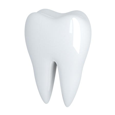 dent: Human Tooth white (done in 3d, isolated)