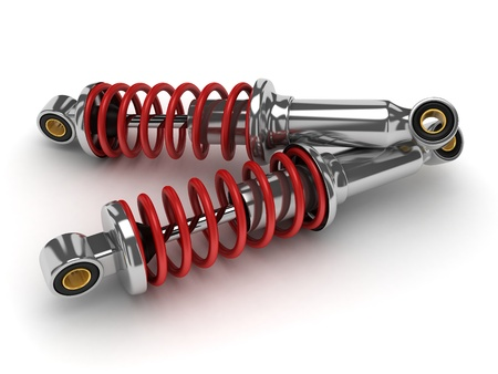 shock absorber car (done in 3d, isolated)