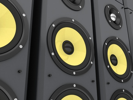 Wall made of columns music (done in 3d) Stock Photo - 9663811