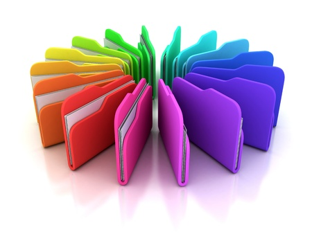 around file, isolated background 3D photo