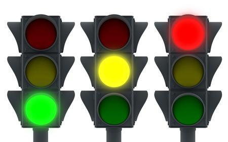 señales de transito: Icono de semáforos (3d, aislado)