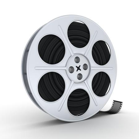 Reel film on white background (3d)