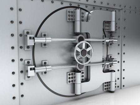 Banking metallic door, vault (done 3d)