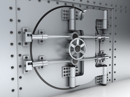 bank vault: Banking metallic door, vault (done 3d)   Stock Photo