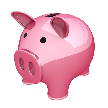 accumulate: Piggy bank pink (done in 3d, isolated)