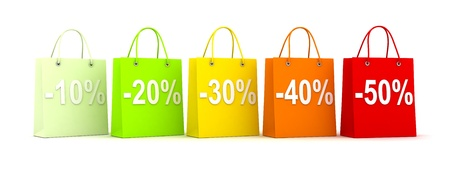 closeout: Row five bags (done in 3d, isolated)   Stock Photo