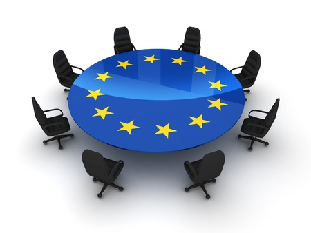 voted: Circle table EU (isolated done in 3d)