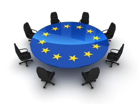 głosowało: Stół grono UE (samodzielnie wykonane w 3d)