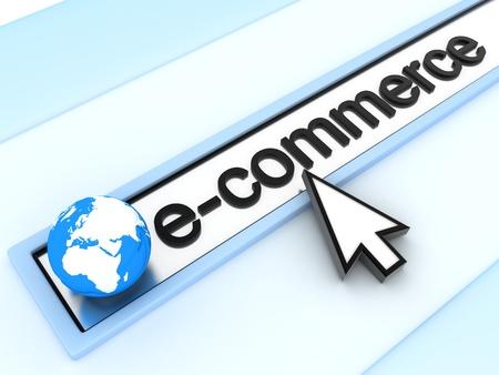 address bar: abstract assress line, E-commerce (done in 3d)