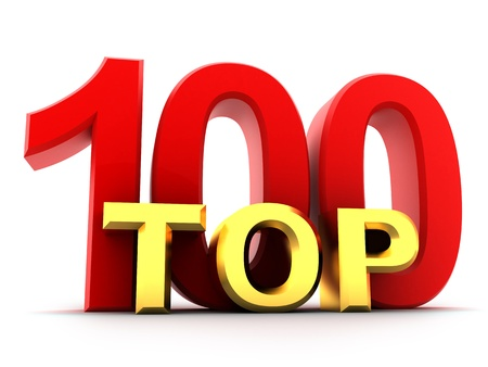 Top hundred the best (isolated, done in 3d)  Stock Photo - 10552457