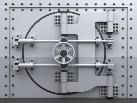Banking metallic door, vault (done 3d)    photo