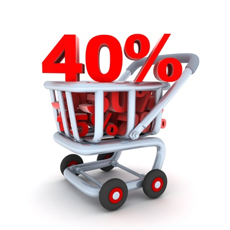 abatement: Cart and discount 40% (done in 3d, isolated)
