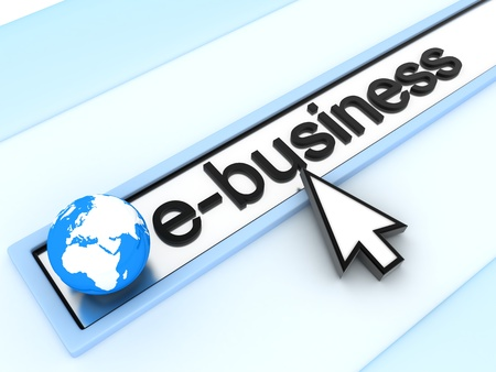 ebusiness: Abstract assress line, E-business  (done in 3d)  Stock Photo