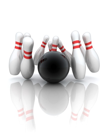 Symbol of bowling on a white background  Stock Photo