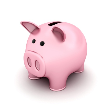 receptacle: Piggy bank pink (done in 3d, isolated)