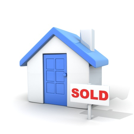 Home and sign sold (done in 3d, cgi) Stock Photo - 10926849