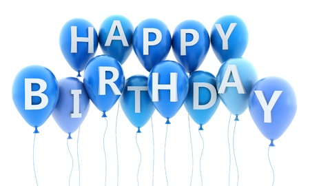 Ballon fly and note birthday (done in 3d) Stock Photo - 11088733