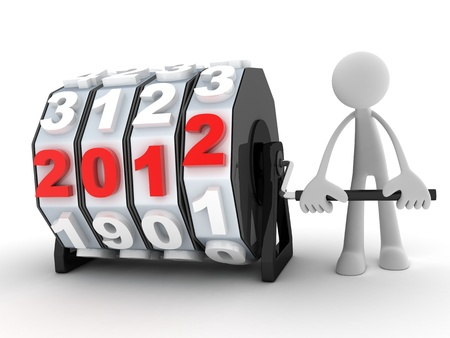 Abstract new year (done in 3d, white background) Stock Photo - 11145053