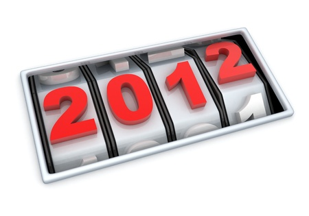 Abstract new year (done in 3d, white background)     Stock Photo - 11145052