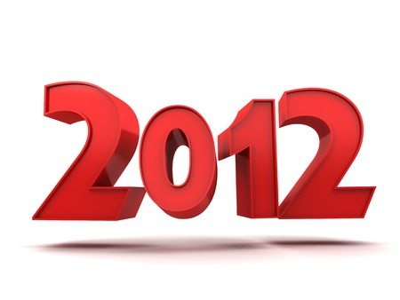 Abstract new year (done in 3d, isolated) Stock Photo - 11145050