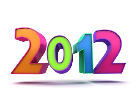 Abstract new year (done in 3d, isolated) Stock Photo - 11282124