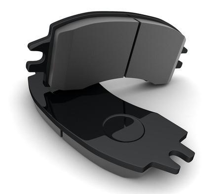 freins: Plaquettes de frein sur fond blanc (fait en 3d)