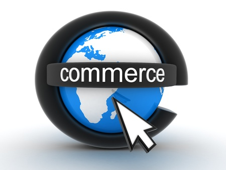 e commerce: Abstract symbol e-commerce (done in 3d) Stock Photo