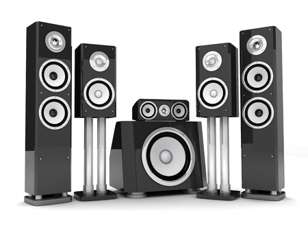 Modern HI-FI system (done in 3d, on white background) Stock Photo - 11914038