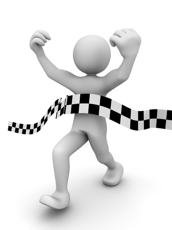 accomplishments: Abstract sprint winner (done in 3d) Stock Photo