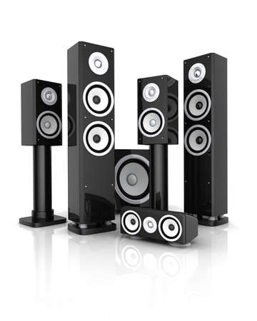 Modern HI-FI system (done in 3d, on white background) Stock Photo - 12326961
