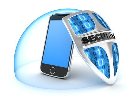 PDA security  done in 3d  Stock Photo