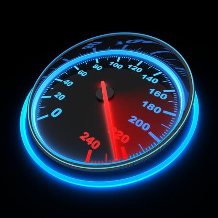 compteur de vitesse: compteur de vitesse et de la fl�che sur 220 fait en 3d