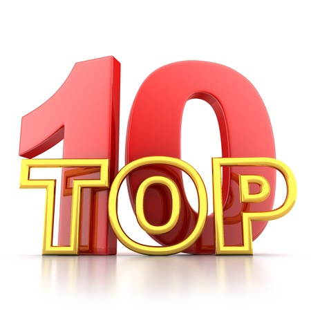 Top ten the best  isolated, done in 3d   Stock Photo - 13005877