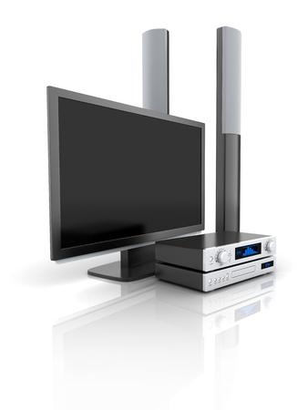 TV et système audio fait en 3d