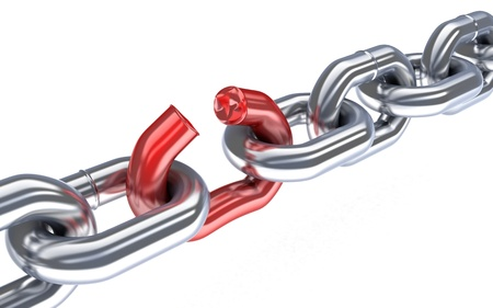 Bad chain (done in 3d,isolated) Stock Photo - 13589002